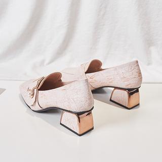 英伦高跟鞋秋款小皮鞋中跟单鞋2019秋季新款秋鞋粗跟鞋子百搭女鞋