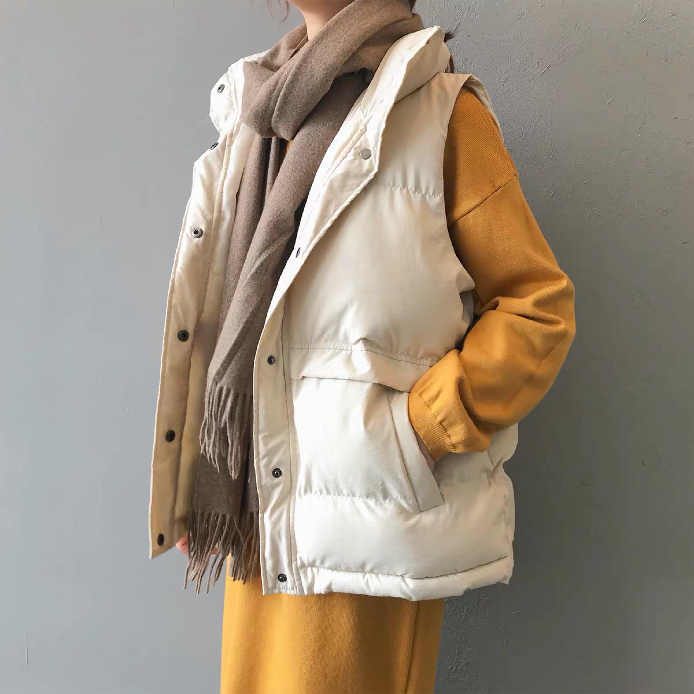 羽绒棉马甲女2020秋冬新韩版宽松短款坎肩学生背心显瘦面包服外套