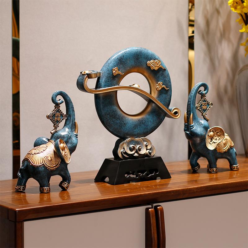 酒柜装饰品大象电视柜摆件招财办公室工艺品客厅玄关家居结婚礼物