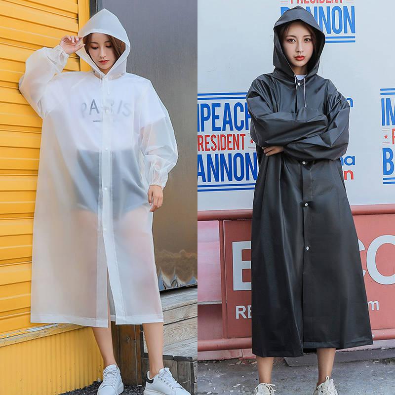 时尚雨衣外套男女加厚成人便携防水户外旅游连体通用非一次性雨披