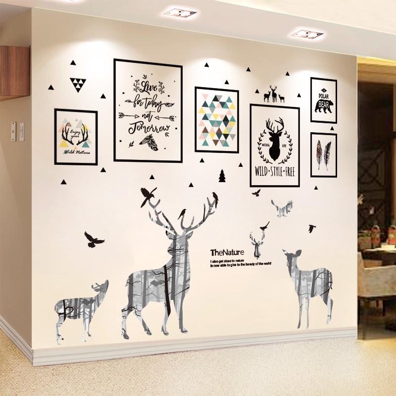 租房家居卧室改造客厅电视自粘海报好用吗