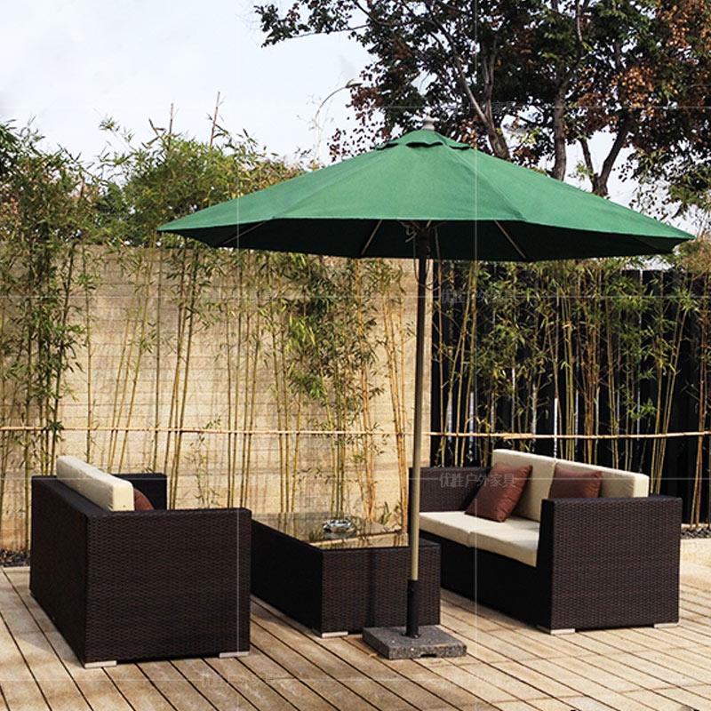 户外休闲藤编沙发咖啡厅阳台藤椅沙发双人位藤沙发椅卡座茶几组合