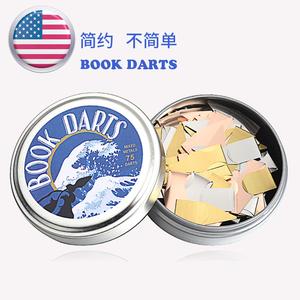进口BOOKDARTS创意定制简约金属书签文艺小清新古典中国风学生用