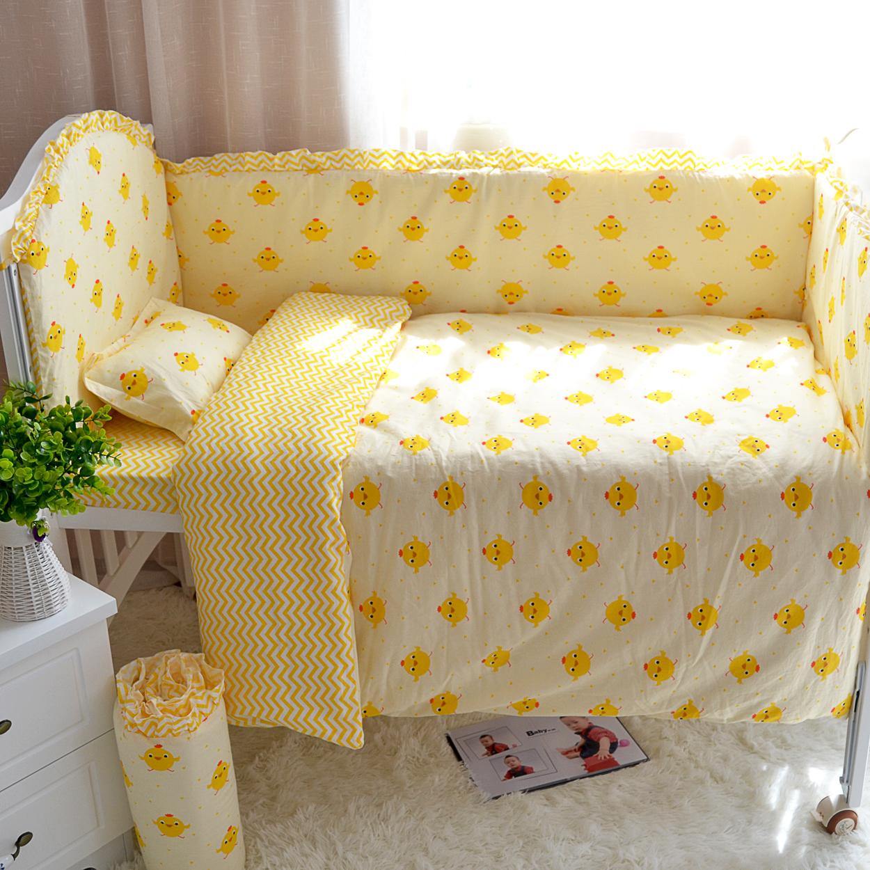 Ins нордический ветер хлопок новорожденный ребенок детская кроватка использование статья кровать вокруг одеяло лист три и четыре много штук комплект сделанный на заказ