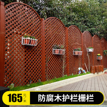 Anticorrosive Wooden fence Outdoor fence courtyard carbonized Wood guardrail outdoor yard Villa wall fence railing wooden door
