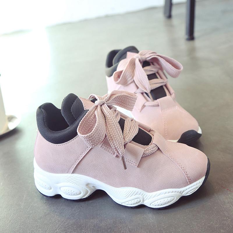 2019年女鞋子韩版新款百搭春款2018运动鞋高中学生爆款女装土春装