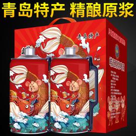 《2020鼠年限量版》青岛崂迈精酿原浆啤酒大麦扎啤桶装2L*2礼盒装