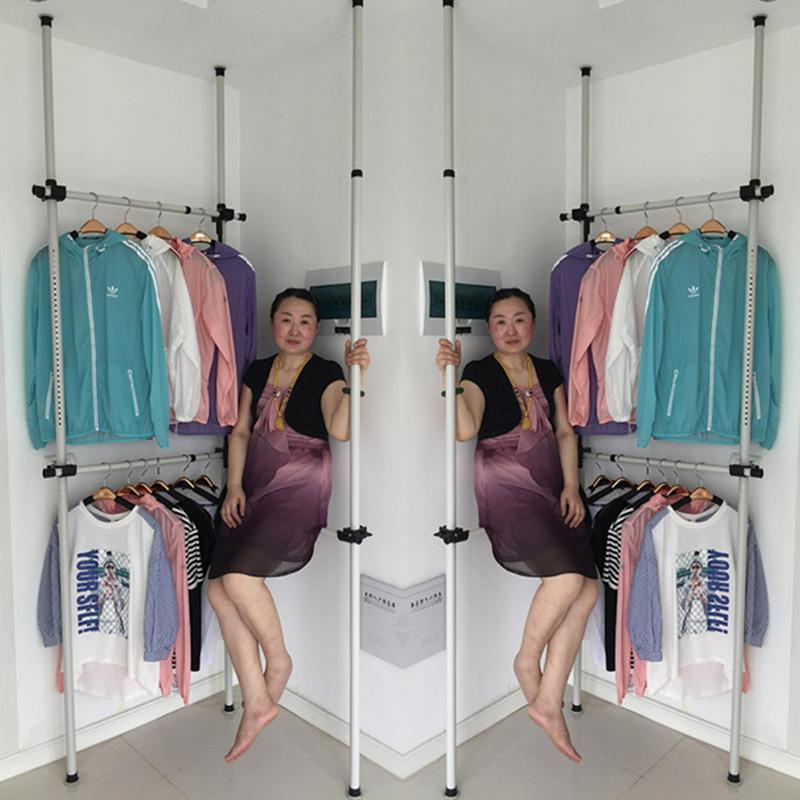 家用頂天立地衣架晾衣架落地摺疊室內卧室單桿式多功能簡易掛衣架