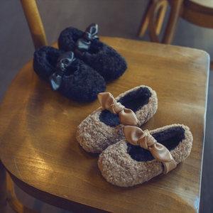 2019新款冬款儿童羊羔毛保暖棉鞋