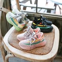 男童鞋2020春款潮飞织透气小童儿童宝宝运动鞋单鞋女童春秋季鞋子