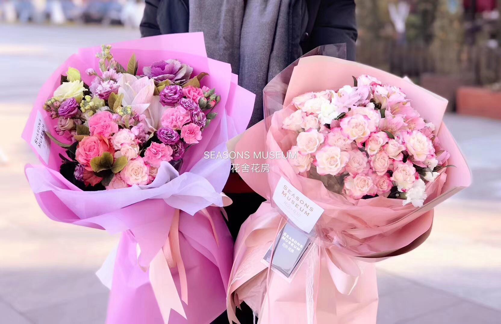 韩素纸鲜花包装纸花束包装纸防水纸鲜花包装材料程静资材