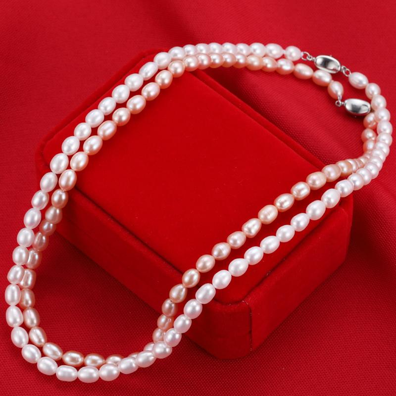 天然淡水珍珠项链女士短款锁骨链颈链强光正品送妈妈婆婆生日礼物