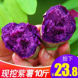 紫薯新鲜10斤蜜甜薯山东农家板栗香红皮薯地瓜糖心蔬菜沙地小番薯图片