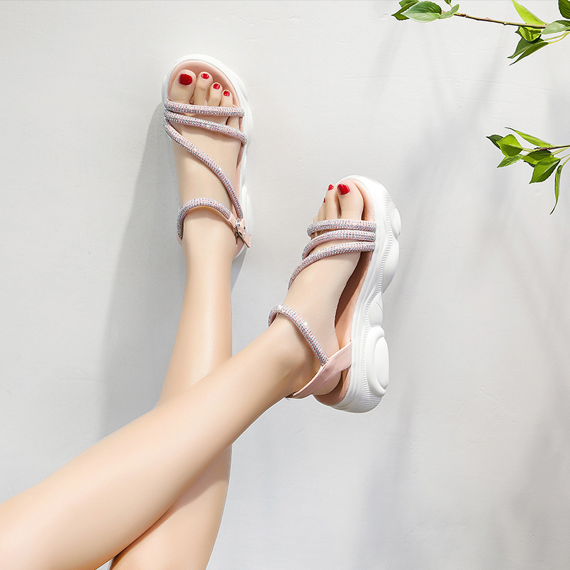 Sports sandals fairy style 2019 new summer net red fashion versatile muffin shoes thick sole bear sole fashion