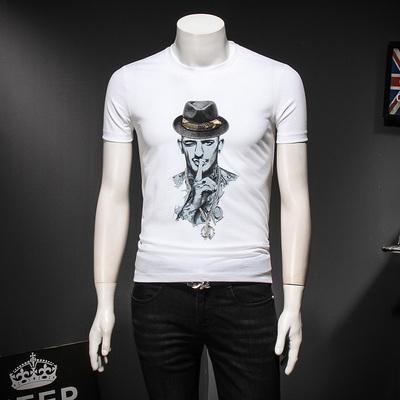 2019年新款刺绣短袖T恤 钱塘3026-1 1785 P55假模