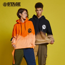 Stage fashion street style anti war water wash loose hooded sweater for men and women