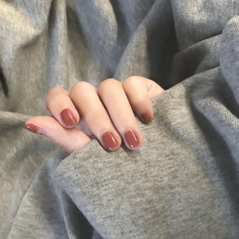 color rose南瓜色指甲油裸色人鱼豆沙秋冬色酒红可剥撕拉无毒无味