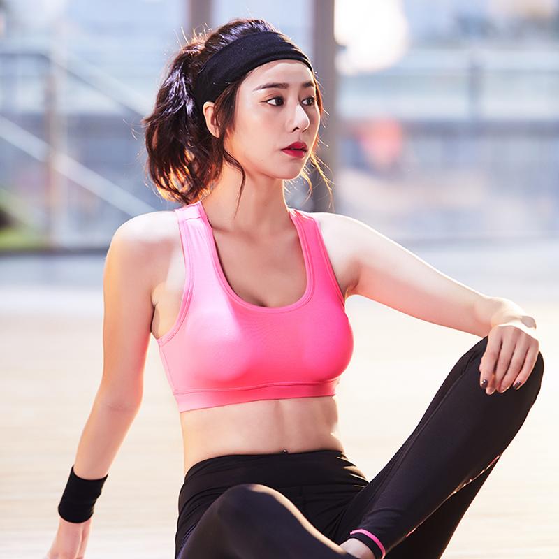 鸭鸭新款健身运动跑步防震无钢托文胸美背瑜伽形体bra冬季内衣