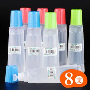 8支透明液体胶水办公用品财务学生用手工diy高粘性大容量胶水强力儿童多用途