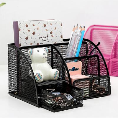 创易笔筒多功能创意时尚韩国小清新办公用品学生文具批发桌面简约个性收纳盒笔桶摆件可爱