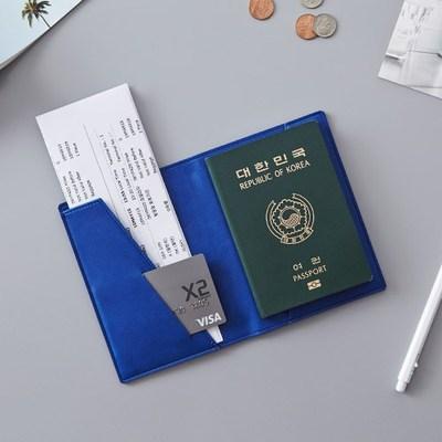 韩国进口ithinkso时尚商务纯色PU便携短款旅行护照夹防泄漏护照套