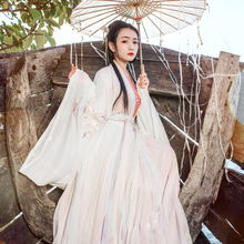 Return to the Han and Tang Dynasties, Incense Initiation and Improvement of Hanfu Women's Sleeve Skirt, Wide-sleeved Chinese Style, Daily Skirt-to-Skirt and Waist-to-Waist Suit in Summer