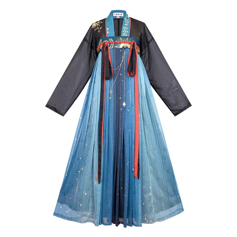 重回汉唐南时叙汉服女唐制直领对襟衫齐胸襦裙正品原创中国风夏季