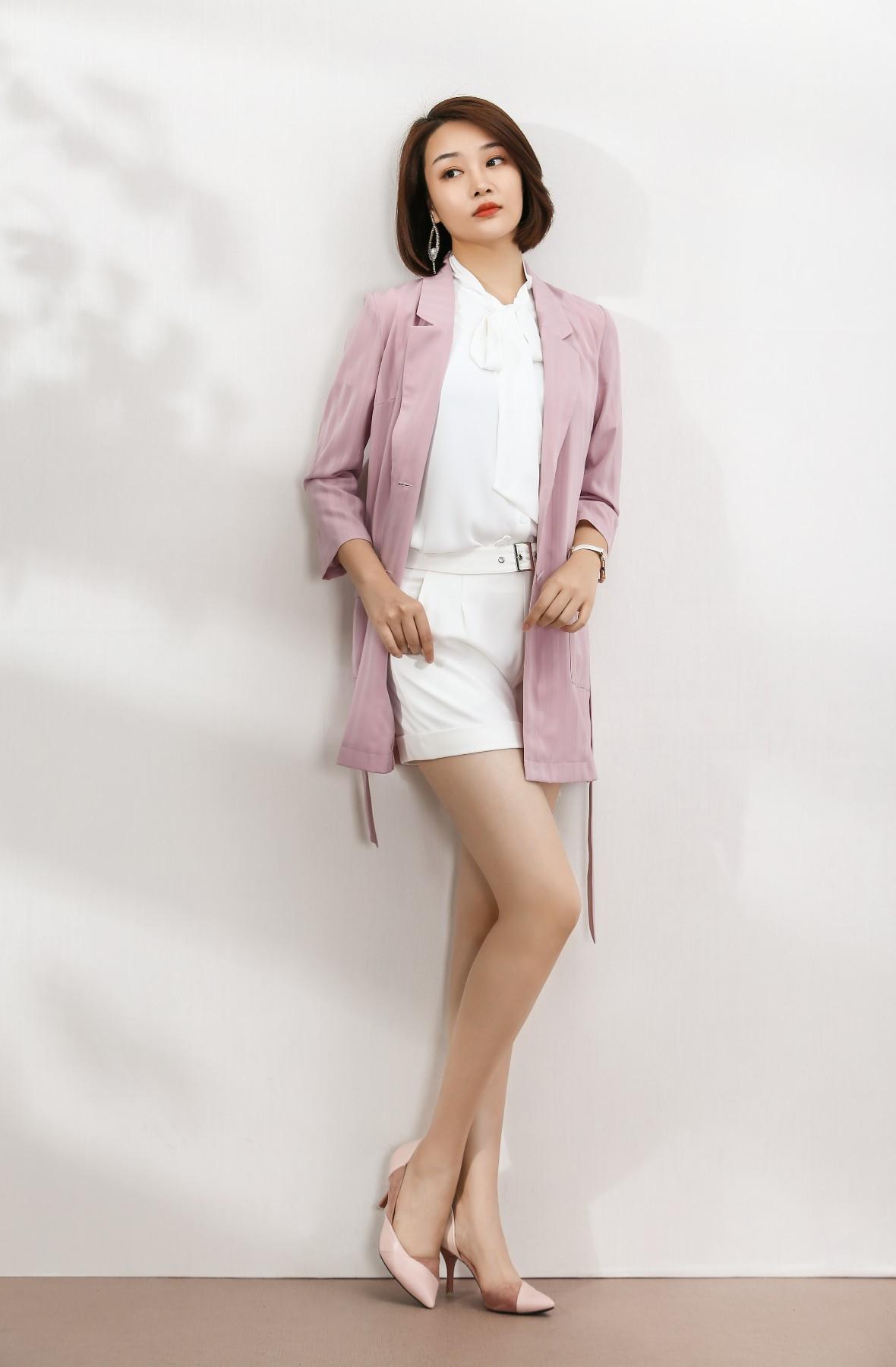 Han Zhen impression long suit coat stripe thin hzyx025