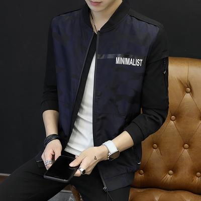 281805秋季新款男士夹克外套青年韩版修身男士棒球服休闲男装p70
