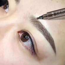 Wild eyebrow-like liquid eyebrow pencil with distinct roots and fine authentic waterproof and durable non-decoloring net red eyebrow artifact