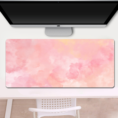 纯色水彩简约韩版鼠标垫大号办公桌垫子笔记本鼠标垫可一件定制