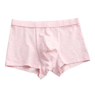 性感騷粉色純棉男士內褲男平角褲青年粉紅可愛個性四角短褲時尚潮