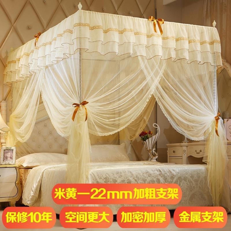 方形蚊帐大尺寸超大号2+2.2两米大床双人家用文章1.8*2.2加厚加密
