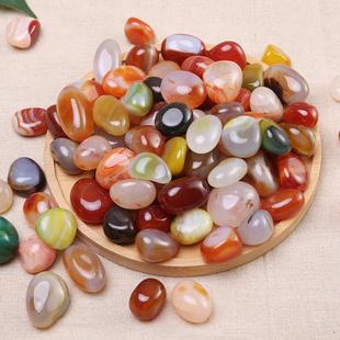 鹅卵石南京雨花石原石天然清仓石头花盆鱼缸装饰彩色小石头小石子