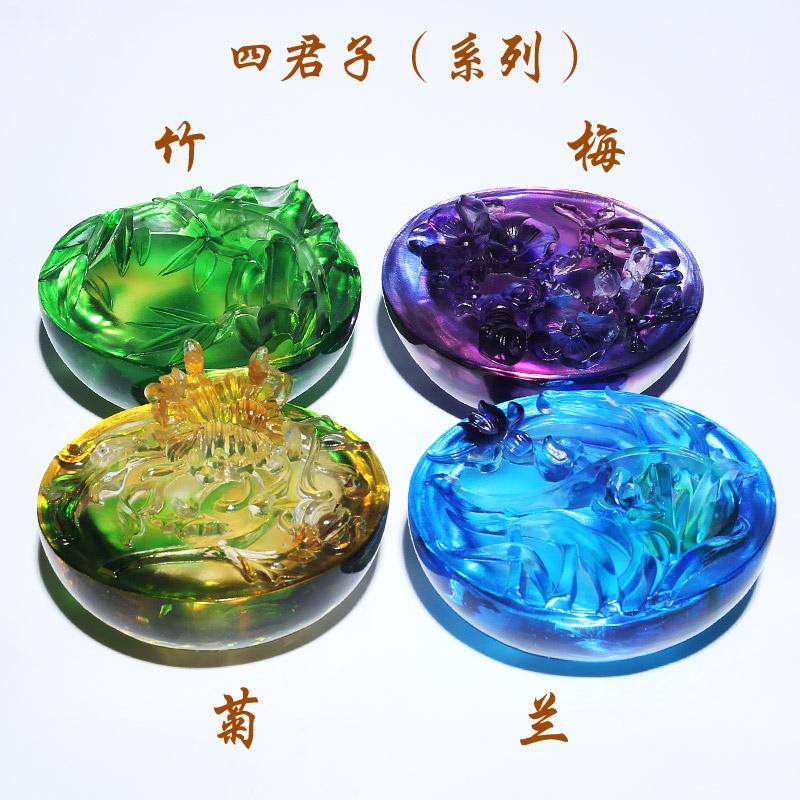 拜访客户送老外创意传统中国风特色中式风格小礼物琉璃工艺品摆件