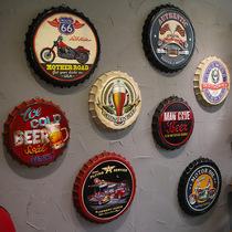 工业风复古啤酒盖酒瓶盖创意壁饰酒吧餐厅墙面壁挂店铺墙上装饰品