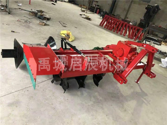 Machine for erecting stem in dry paddy field