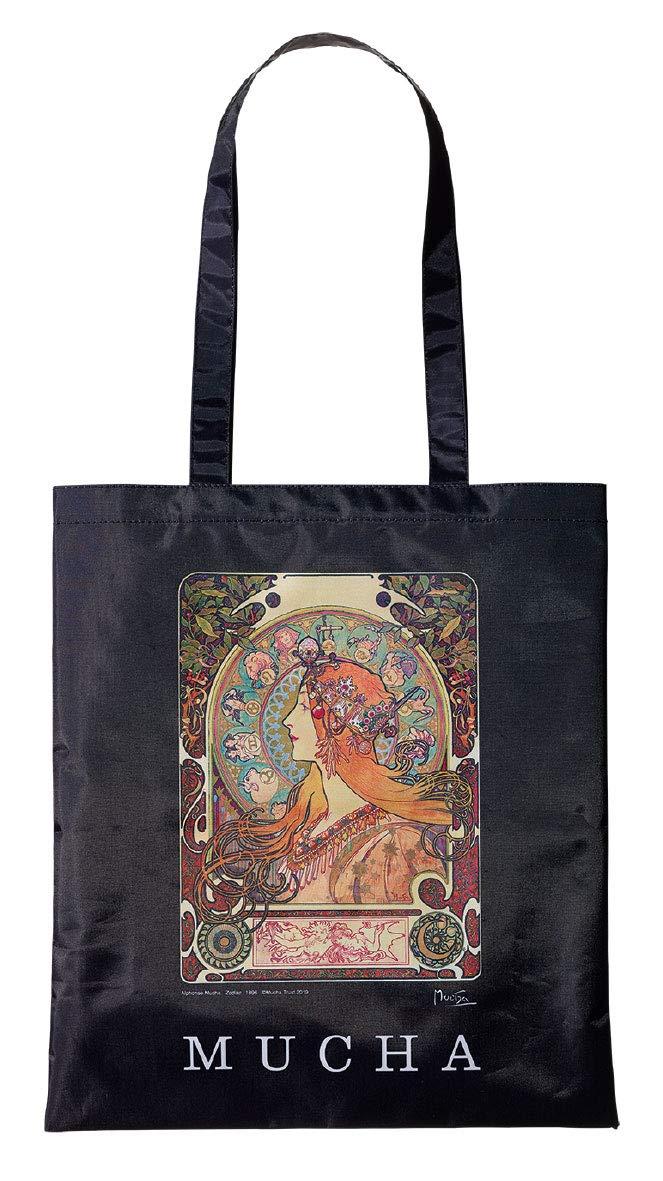 Mucha Musha baumori womens classical art illustration shopping bag handbag