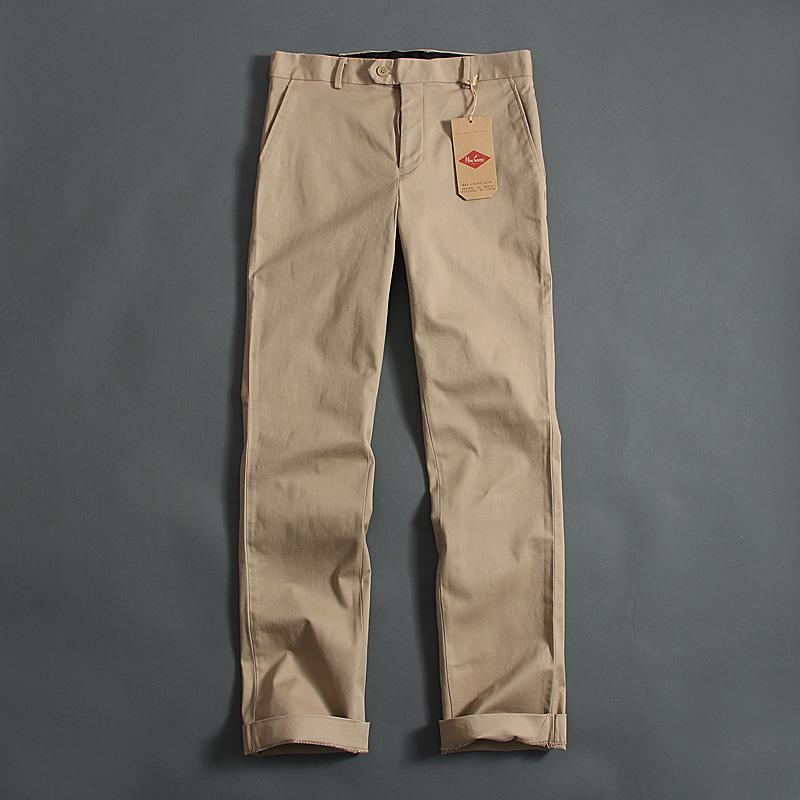 51SHOP внешней торговли оригинальный мужской бизнес повседневные брюки свободные весной и осенью брюки прямые ноги из чистого хлопка
