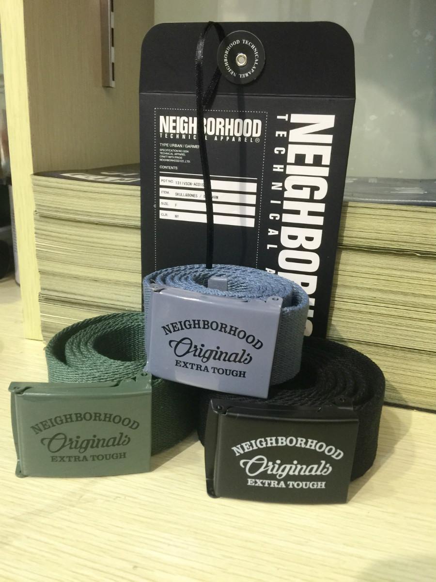 Yu wenle fashion NBHD wtaps dcdt 16ss Military Canvas smooth button belt belt
