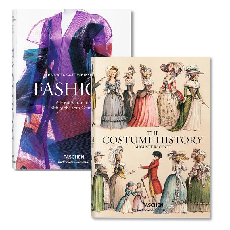 现货英文 FASHION 18到20世纪时尚服装史 & THE COSTUME HISTORY 服装历史 Taschen出版 塔森 古典宫廷服装到时尚服装设计史套装