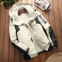 冲锋衣男女潮牌三合一可拆卸两件套加绒加厚保暖韩国登山滑雪服女