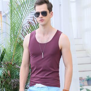 男士青年夏季纯棉加大码背心修身型紧身健身运动跨栏打底弹力男装