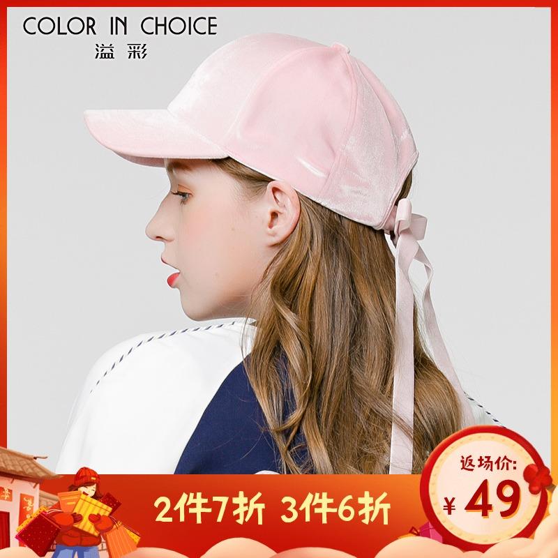 溢彩帽子女秋冬棒球帽韩版休闲纯色字母户外遮阳保暖鸭舌帽青年潮
