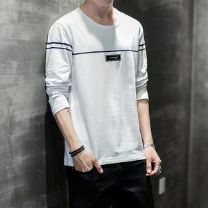 G實拍男士長袖T恤男韓版修身男T恤圓領衛衣男青年男裝打底衫G8904