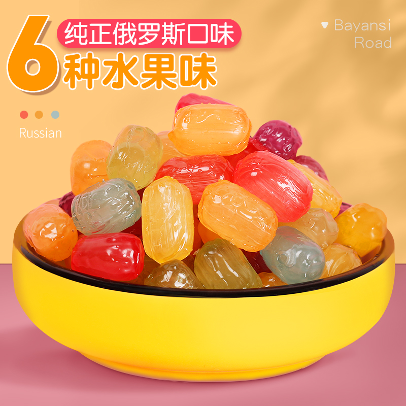 Bayan idea fruit candy mixed with fruit flavor hard candy imported snack candy bulk happy candy sandwich fruit juice soft candy