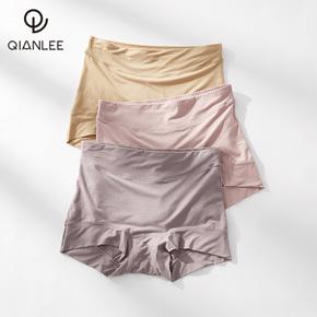 3条内裤女莫代尔夏季薄款透气冰丝感中高腰无痕女士平角裤头大码