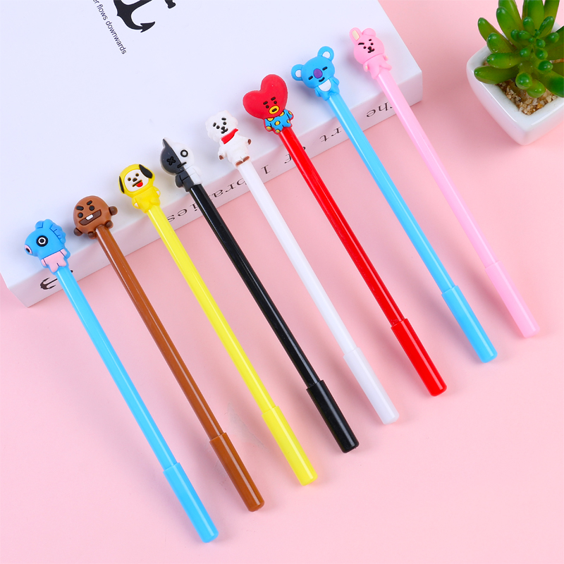Creative stationery cartoon water pen lovely student exam black neutral pen learning office supplies signing pen