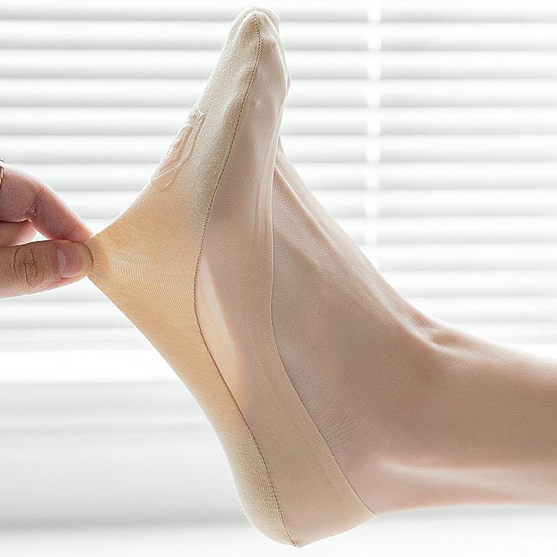 丝袜女薄款春秋冰丝短隐形袜硅胶防滑肉色船袜夏季浅口高跟鞋袜冰