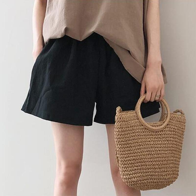 韩国孕妇装棉麻短裤夏季薄款2020新款时尚外穿宽松裤子打底裤潮妈图片